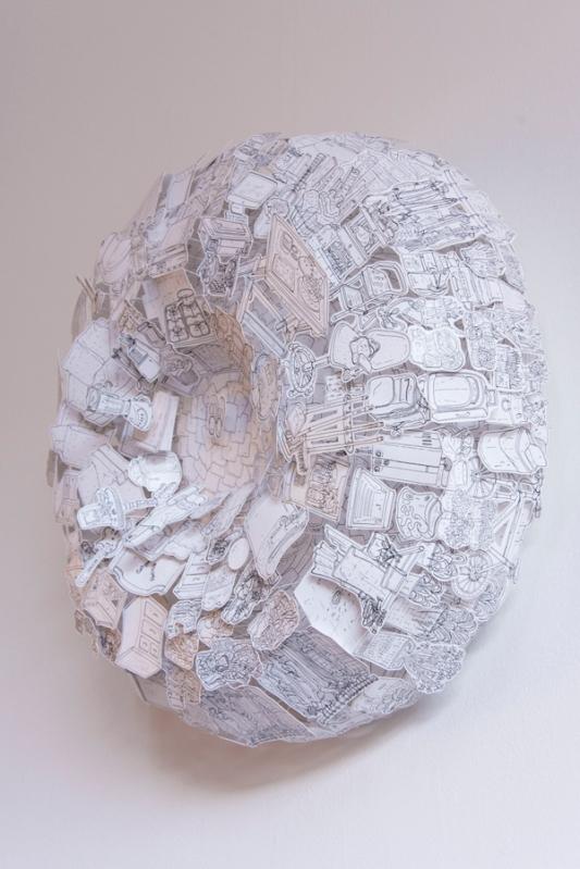 Apología 1 Dibujo tridimensional Tintas obre papel 50 x 50 x 20 cm 2016